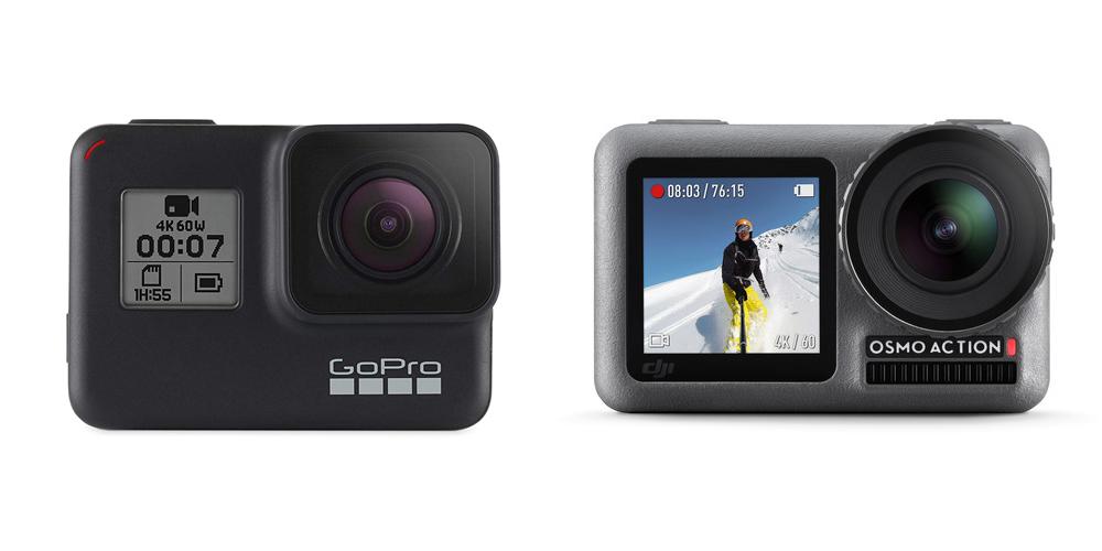 Au rayon des best-seller nous retrouvons évidemment la (justement) réputée et incontournable GoPro. OSMO prend aussi d'assaut le marché de la caméra embarquée avec son nouveau bijou : l'OSMO ACTION.