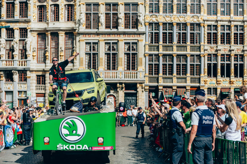 La caravane SKODA en ville