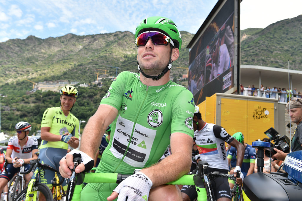 Mark Cavendish avec le maillot vert