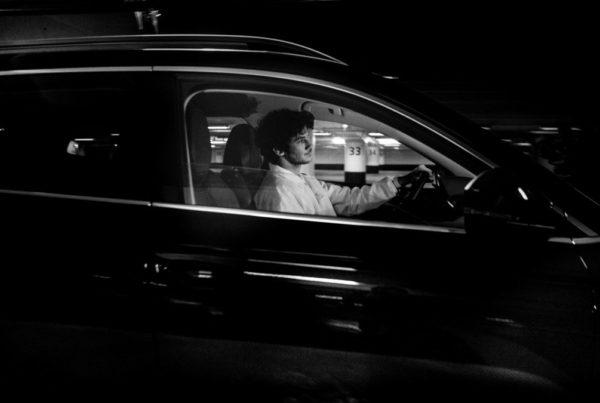 Matthias Dandois en voiture