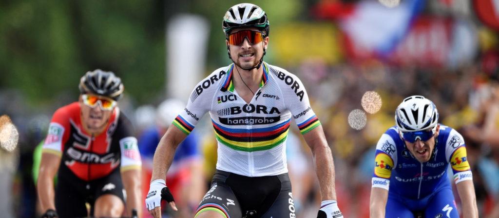 Peter Sagan avec le maillot de champion du monde