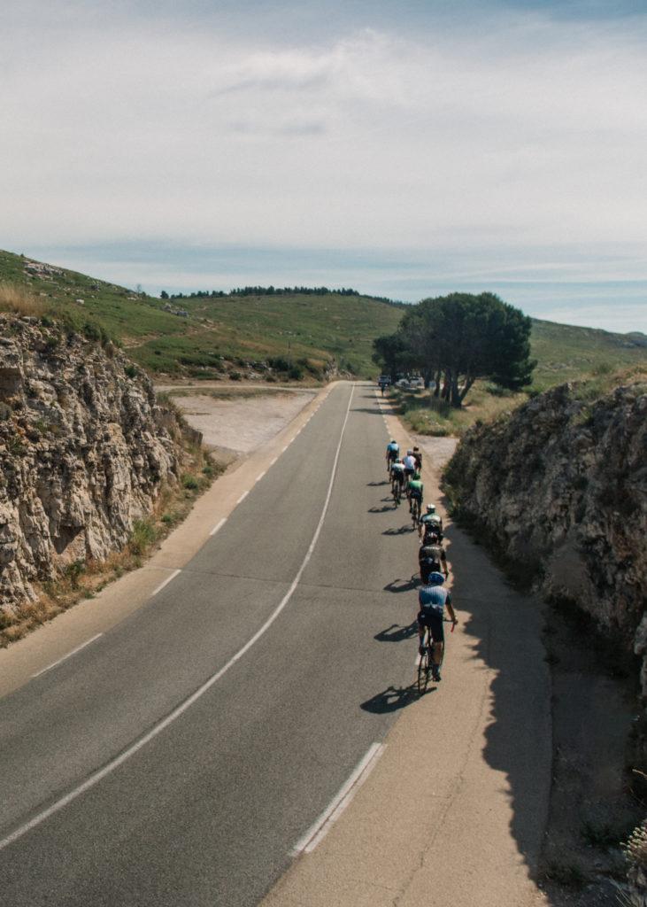 Routes entre Marseille, Cassis et Gémenos.