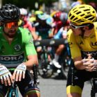 Sagan en vert et Thomas en jaune