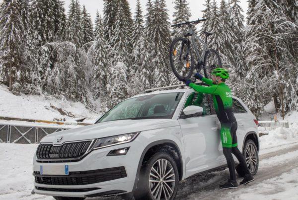 Utiliser sa voiture pour rejoindre un lieu d'entrainement hivernal