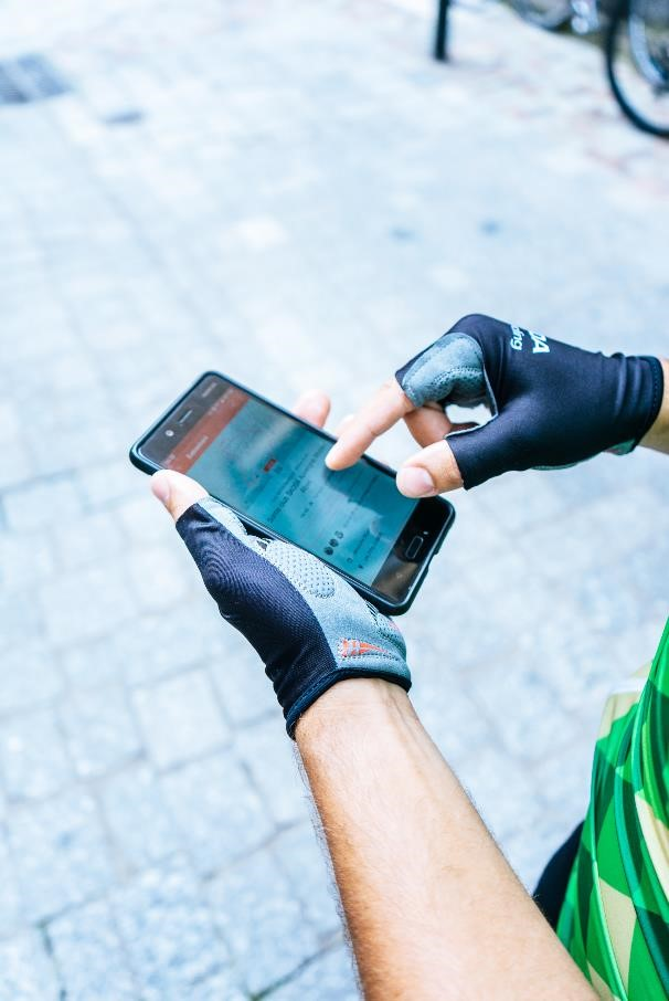 l'application strava et le tracé de la sortie skoda we love cycling