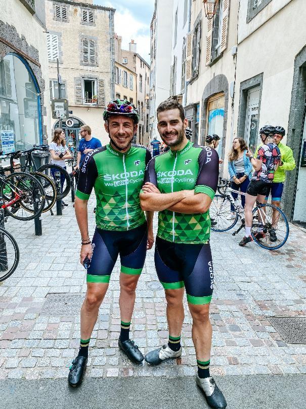 Les teams leader du club skode we love cycling auvergne rhone alpes