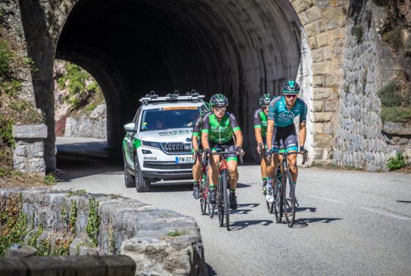 La Team ŠKODA en reconnaissance de l'Etape du Tour